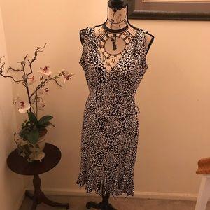 London Times work dress, Black & White, size 10